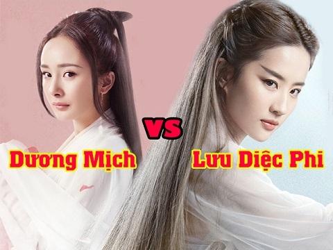 So sánh nhan sắc 2 nàng 'Bạch Thiển': Dương Mich - Lưu Diêc Phi