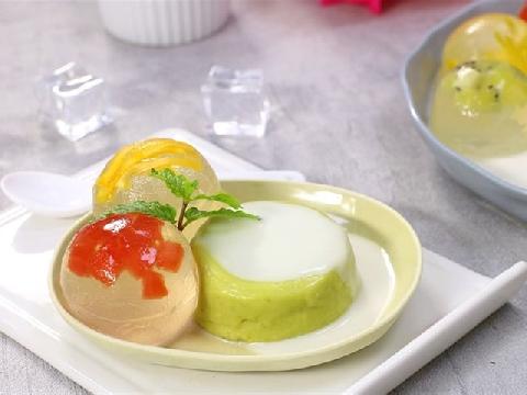 Chè bơ thạch pha lê trái cây