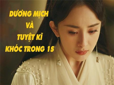 Bị chê diễn dở, Dương Mịch trổ tài khóc trong một giây