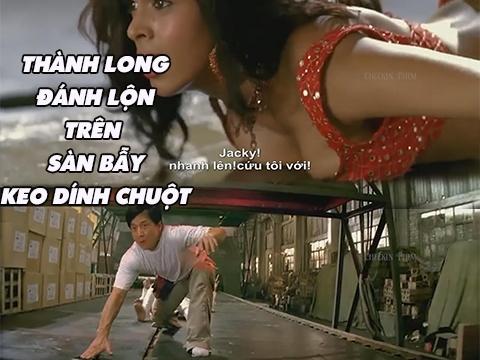 Kungfu Remix: Thành Long đánh lộn trên sàn keo dính chuột
