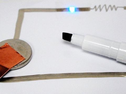 Có một loại mực có thể vẽ ra điện?