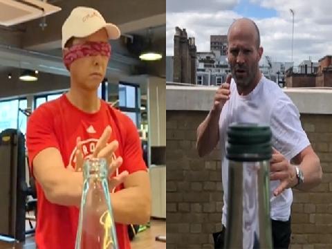 Chân Tử Đan, Jason Statham chơi thử thách đá nắp chai