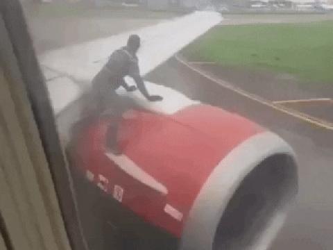Người đàn ông leo lên cánh máy bay để ''đi chui'' ở Nigeria