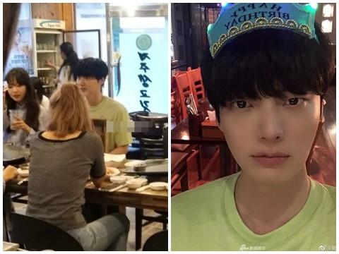Lộ ảnh Ahn Jae Hyun nhậu nhẹt cùng gái xinh, bỏ mặc Goo Hye Sun