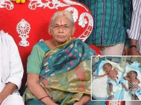 Sản phụ già nhất thế giới sinh đôi gây bất ngờ