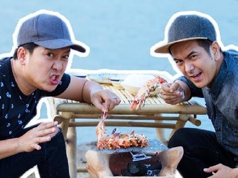 Trường Giang, Hùng Thuận tất bật thả lưới bắt cá siêu thú vị