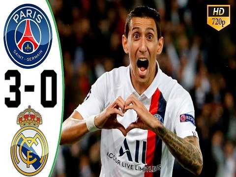 PSG 3-0 Real Madrid (Vòng bảng Champions League 2019/20)