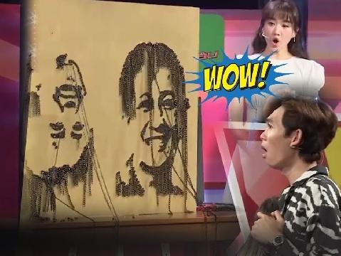 Hari Won trầm trồ với bức tranh vẽ bằng ốc vít siêu đỉnh