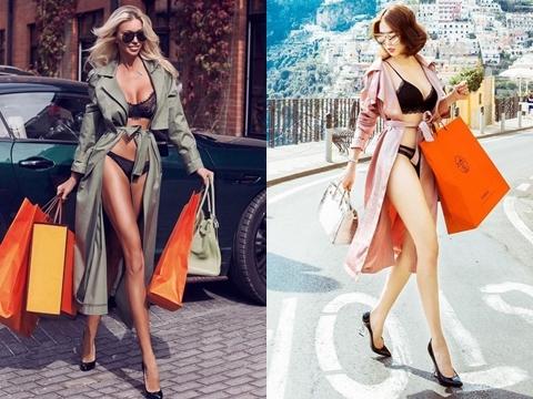 Mặc nội y dạo phố Tây, Ngọc Trinh vướng nghi án đạo nhái ảnh siêu mẫu quốc tế