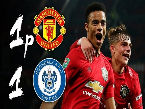 M.U 1-1 (pen: 5-3) Rochdale (Vòng 3 Cúp Liên đoàn Anh 2019/20)