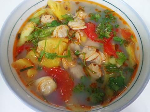 Món canh ngao nấu trứng trứ danh của người Nhật Bản