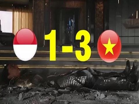 Clip chế 'cực đỉnh' tóm tắt trận Việt Nam hạ gục Indonesia