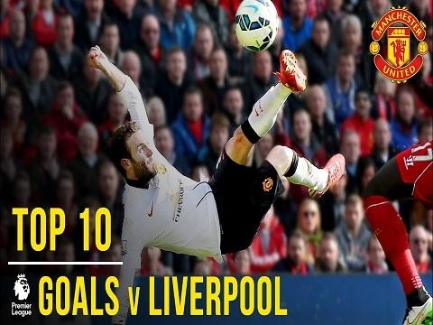 10 bàn thắng đẹp nhất của M.U vào lưới Liverpool tại Ngoại hạng Anh