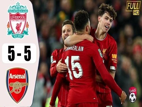 Liverpool 5-5 (pen 5-4) Arsenal (Vòng 1/8 League Cup 2019/20
