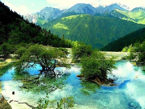 Hồ nước nóng tự nhiên bí ẩn giữa trang trại hoang vu