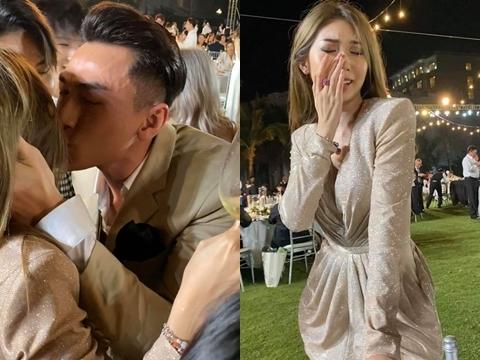 Khổng Tú Quỳnh mất trí khi được ''khoá môi'' Isaac trong đám cưới Đông Nhi