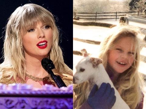 Taylor Swift hé lộ khoảng khắc thơ bé như công chúa trong MV Giáng Sinh