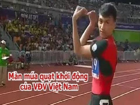Phát sốt với màn 'múa quạt' trước khi săn HCV chạy 400 mét của Trần Nhật Hoàng