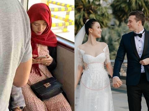 Hoàng Oanh lộ vòng 2 lớn bất thường ngay sau đám cưới, có baby hay gì?