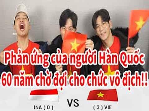 Phản ứng của người Hàn Quốc trước HCV SEA Games của U22 Việt Nam