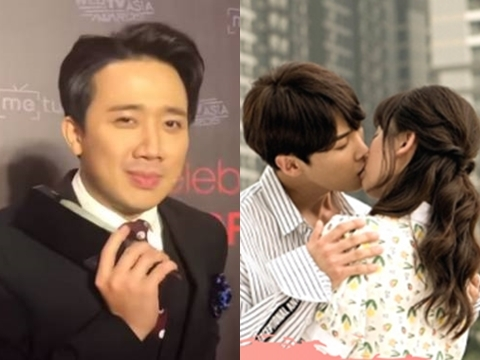 Trấn Thành tuyên bố ''tẩy chay'' phim Hari Won vì dám hôn trai đẹp