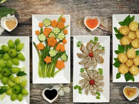 14 cách trang trí đĩa thức ăn đẹp mắt cho mùa Tết sắp về