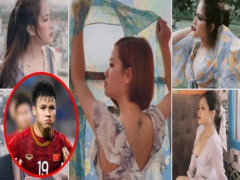 Hình xăm gần ngực đầy quyến rũ của bạn gái mới Quang Hải