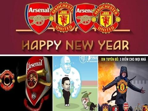 Cười té ghế với loạt ảnh chế Arsenal bắn hạ Man Utd