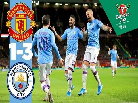 Man Utd 1-3 Man City (lượt đi bán kết League Cup): 45 phút ác mộng