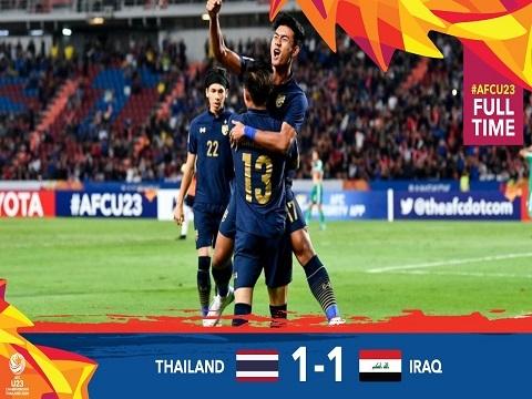U23 Thái Lan 1-1 U23 Iraq: Hòa kịch tính, U23 Thái Lan giành vé vào tứ kết