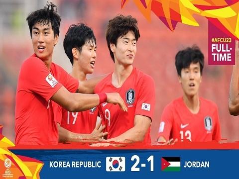 U23 Hàn Quốc 2-1 U23 Jordan:Thắng nghẹt thở, U23 Hàn Quốc vào bán kết