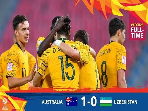 U23 Australia 1-0 U23 Uzbekistan: D'Agostino đưa Australia tới Olympic 2020