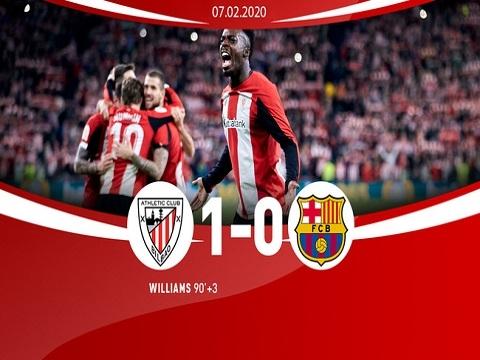 Bilbao 1-0 Barca: Messi 'tịt ngòi', Barca nối gót Real rời Cúp nhà Vua