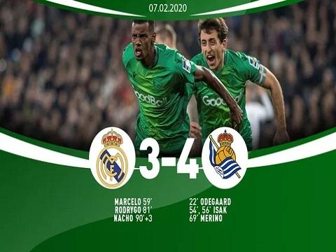 Real Madrid 3-4 Sociedad: Real bị loại khỏi tứ kết Cúp Nhà Vua
