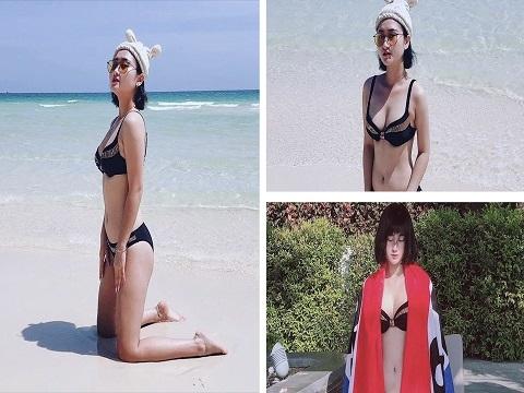 Bạn gái sao tuyển Việt Nam 'khoe' loạt ảnh bikini nóng bỏng