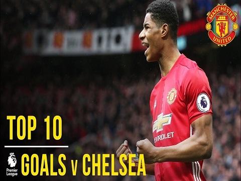 10 siêu phẩm của M.U ghi vào lưới Chelsea