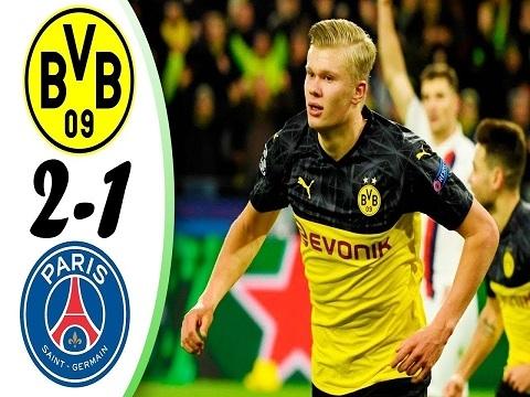 Dortmund 2-1 PSG: Haaland tỏa sáng