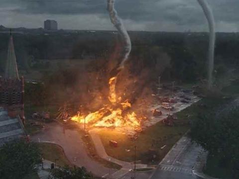 Xoáy lửa cực khủng xuất hiện trong cháy rừng