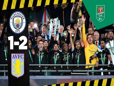 Aston Villa 1-2 Man City: Man City vô địch Cúp Liên đoàn thứ 3 liên tiếp