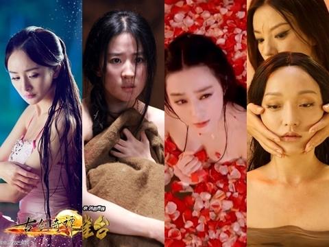 6 cảnh tắm cực hot của loạt mỹ nhân Hoa Ngữ