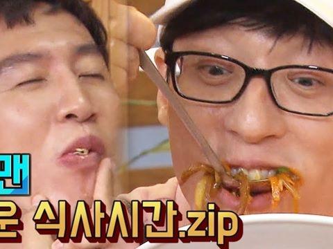 Mợ ngố Ji Hyo hãi hùng nhìn Kwang Soo nhồm nhoàm ăn trọn mâm cơm RunningMan
