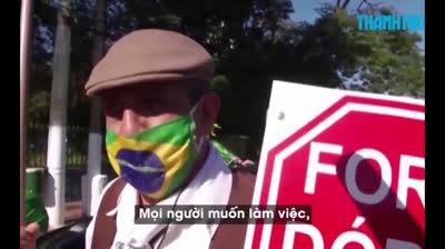 Brazil xếp thứ 3 thế giới về ca nhiễm virus corona, tổng thống vẫn đi biểu tình đòi bỏ phong tỏa