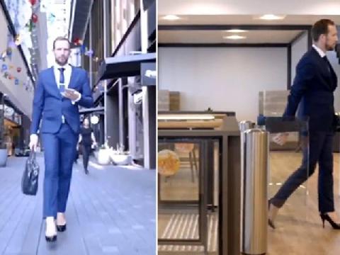Đi giày cao gót mà dễ thì đàn ông cũng liều!