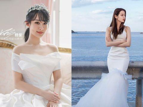 Dương Tử diện váy cưới xinh như tiên tử, fans so kè với Địch Lệ Nhiệt Ba