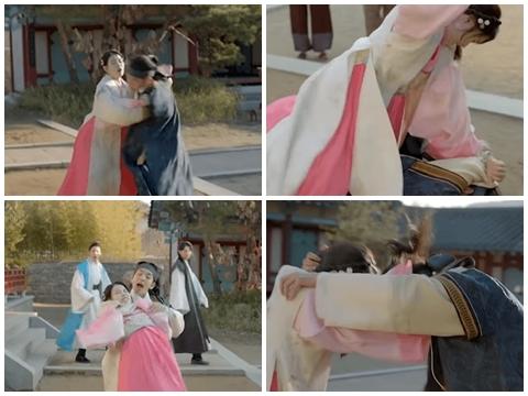Baekhyun bị IU túm tóc, ngồi lên người, đánh bầm dập giữa đường