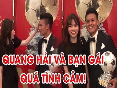 Quang Hải được bạn gái lau mồ hôi, cùng tạo dáng rất đáng iu