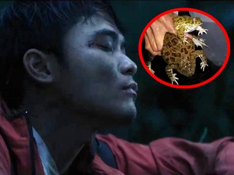 Rợn người cảnh phượt thủ ăn ếch sống trong phim Việt Nam
