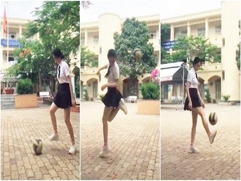 Nữ sinh váy ngắn gắp bóng khiến dân mạng đứng ngồi không yên