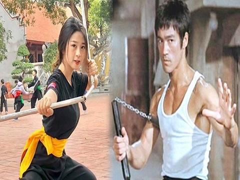 Hot girl Việt gây sốt với màn múa côn nhị khúc như Lý Tiểu Long