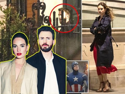 'Captain America' Chris Evans bị bắt gặp vào khách sạn với Lily James